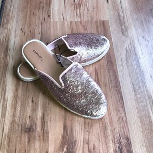 Express Pink Sequin Slip on Shoes